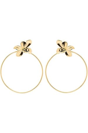 PDPAOLA Damen Uhren - Ohrringe Earrings BLOSSOM Yellow Gold gelbgold