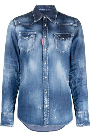 Dsquared2 Klassisches Distressed-Jeanshemd