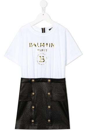 Balmain Mädchen Freizeitkleider - Kleid mit T-Shirt-Einsatz
