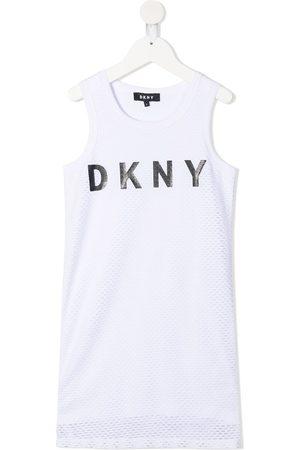 DKNY Trägerkleid mit Logo-Print