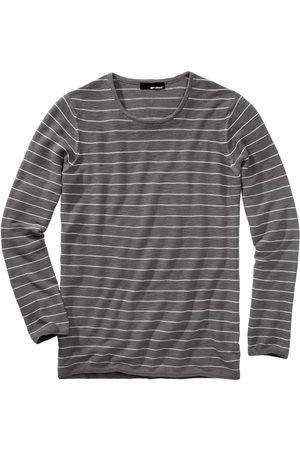 Mey & Edlich Herren Shirt Überquer-Strickshirt leicht tinte/papier