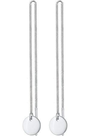 Elli Paar Ohrhänger »Ohrringe Ohhänger Plättchen Kreis Durchzieher 0303730320, 0303890320«