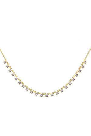 PDPAOLA Damen Halsketten - Halskette Necklace VICTORIA Yellow Gold lila