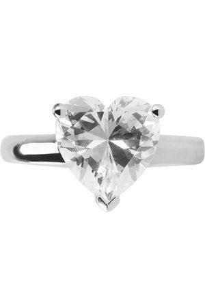 Miss Evél Damen Ringe - Ring Ring Heart Silver gelb