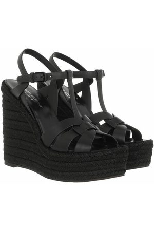 Saint Laurent Espadrilles Tribute Wedge Espadrilles schwarz