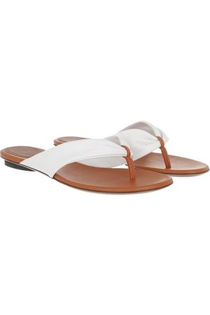 L'Autre Chose Sandalen & Sandaletten Flat Sandals Bicolor Lamb Leather weiß
