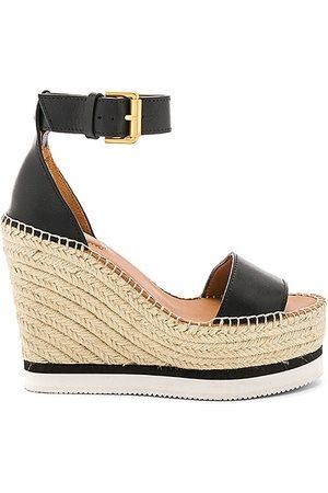See by Chloé Damen Sandalen - Glyn Wedge Sandal in . Size 37, 38, 39, 40, 41.
