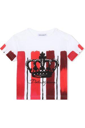 Dolce & Gabbana T-Shirt mit Längsstreifen