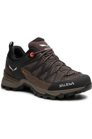 Salewa Damen Sneakers - Ws Mtn Trainer Lite Gtx GORE-TEX 61362-7517 Wallnut/Fluo Coral