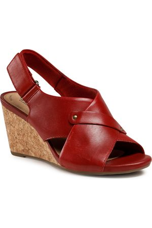Clarks Margee Eve 261581354 Red Leather