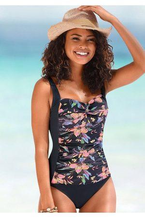 LASCANA Badeanzug »Malia«, mit Raffung und tropischem Print