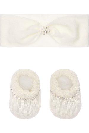 La Perla Stirnband Und Socken Aus Strick Mit Perlenimitat