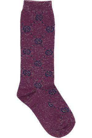 Gucci Socken Aus Baumwollmischstrick Mit Gg- Supreme