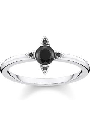 Thomas Sabo Damen Ringe - Ring Schwarze Steine silber