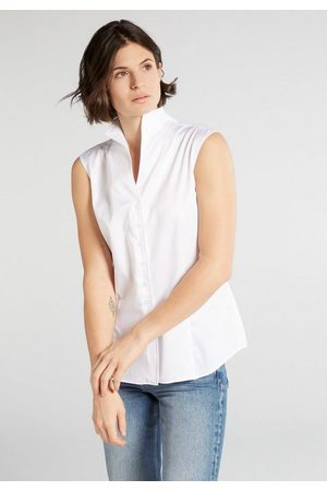 ETERNA Satinbluse »MODERN CLASSIC« ohne Arm Bluse
