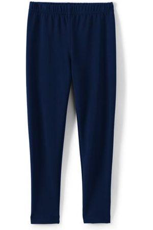 lands end Mädchen Leggings & Treggings - Knöchellange Tough Cotton Leggings, Größe: 110-116, Blau, Wolle, by Lands' End