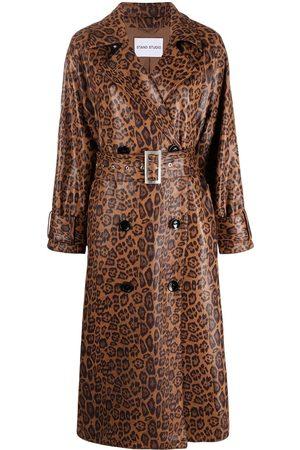 Stand Studio Damen Mäntel - Mantel mit Leoparden-Print