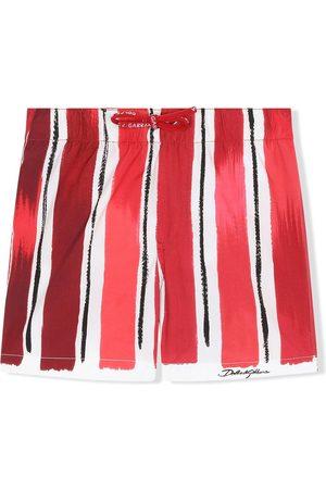 Dolce & Gabbana Badeshorts mit gemalten Streifen