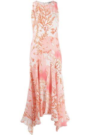 Stella McCartney Trägerloses Kleid mit tropischem Print