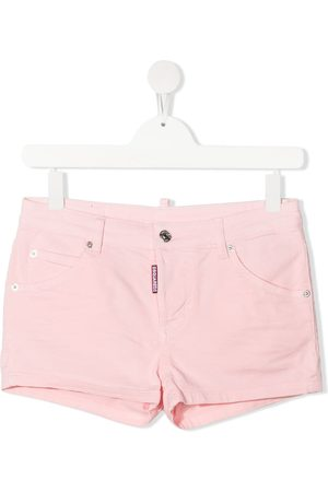 Dsquared2 Kids Cropped - TEEN Jeans-Shorts mit Logo-Patch