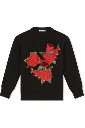 Dolce & Gabbana Pullover mit gehäkeltem Rosen-Patch