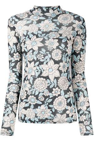 CHRISTIAN WIJNANTS Damen T-Shirts, Polos & Longsleeves - T-Shirt mit Blumen-Print