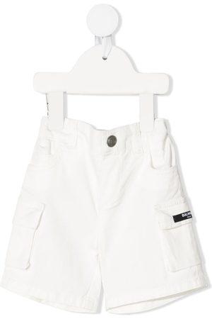 Balmain Shorts mit Logo-Patch