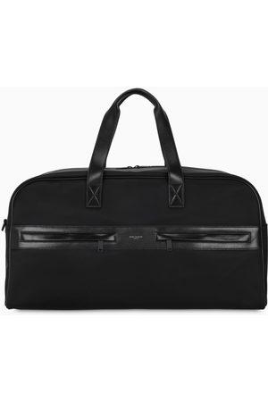 Saint Laurent Herren Taschen - Black nylon and leather Camp duffle bag