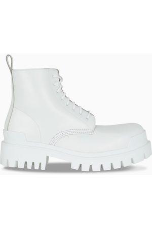 Balenciaga White Strike lace-up boots