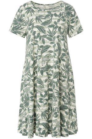 Green Cotton Jersey-Kleid 1/2-Arm