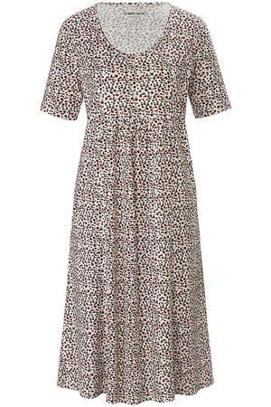 green cotton Damen Freizeitkleider - Jersey-Kleid 1/2-Arm weiss
