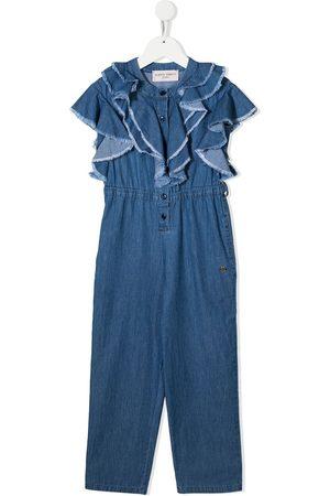 Alberta Ferretti Jeans-Jumpsuit mit Volants