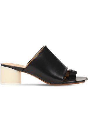 MM6 MAISON MARGIELA Damen Sandalen - 45mm Hohe Zehenstegsandalen Aus Leder