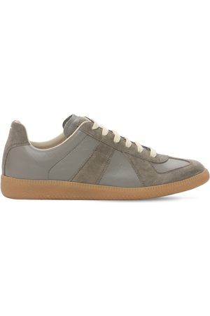 "Maison Margiela Damen Sneakers - 20mm Sneakers Aus Leder & Wildleder ""replica"""
