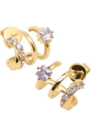 PDPAOLA Ohrringe Royal Earring Yellow Gold lila