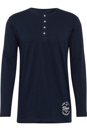 Tom Tailor Herren Pyjama Langarmshirt, , unifarben, Gr.48/S