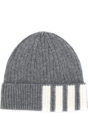 Thom Browne Herren Hüte - Gerippte Kaschmir-Mütze