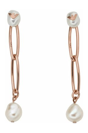 Emporio Armani Ohrringe Stainless Steel Drop Earrings rosa
