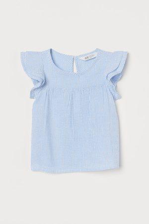 H&M Mädchen Blusen - Bluse mit Volantärmeln