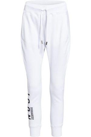 Dsquared2 Schmal zulaufendes Bein. Breiter elastischer Taillenbund mit Tunnelzug. Seitliche Eingrifftaschen. Label-Wording am Bein. Reine Baumwolle. Made in Italy. Maße bei Größe S:- Innenbeinlänge: 65 cm
