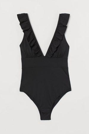 H&M Damen Badeanzüge - Badeanzug mit wattierten Cups