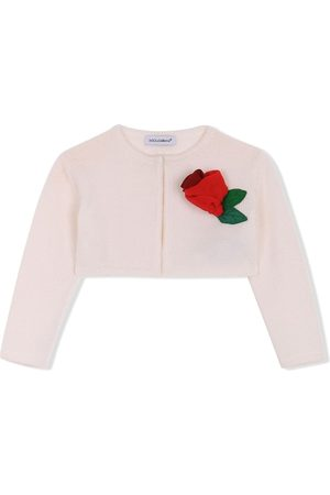 Dolce & Gabbana Cardigan mit Blumenapplikation