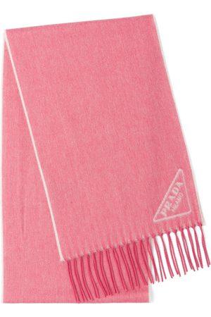 Prada Schal mit Intarsien-Logo