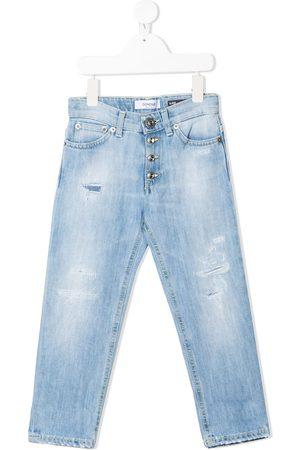 Dondup Kids Gerade Distressed-Jeans
