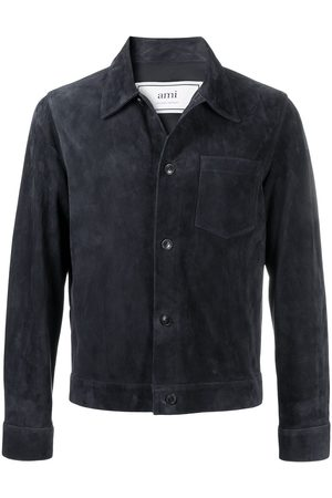 AMI Paris Herren Lederjacken - Hemdjacke aus Wildleder
