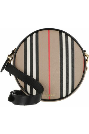Burberry Crossbody Bags Louise Striped Round Crossbody Bag beige