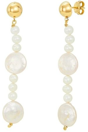 BELORO Damen Uhren - Ohrringe Earring Pearls gold