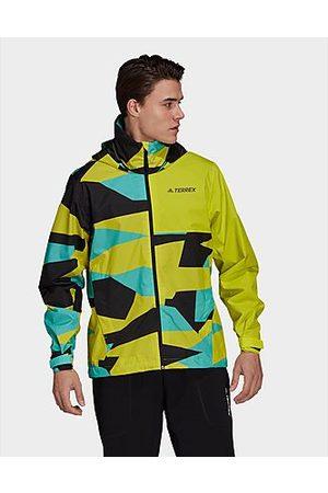 adidas TERREX Multi RAIN.RDY Primegreen Allover Print 2-Layer Regenjacke - - Herren