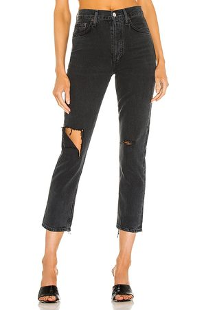 AGOLDE Riley hohe Straight Crop Jeans in . Size 24, 25, 26, 27, 28, 29, 30, 31, 32, 33.
