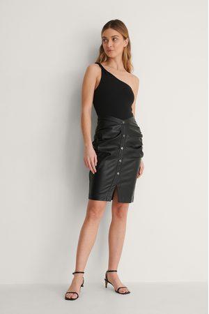 Curated Styles Damen Röcke - Pu-Rock - Black